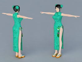 Traditional Chinese Girls 3d model