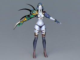 Pathfinder Female Elf Ranger 3d model