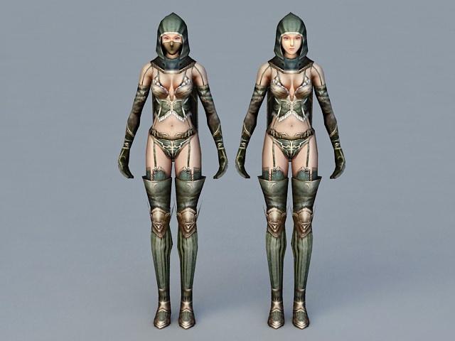Female Ninja Assassin 3d model