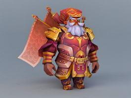 Dwarf Warrior 3d model