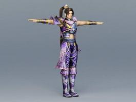 Ancient China Martial Artist 3d model
