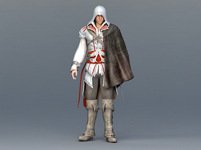 Assassins Creed Man 3d Model 3ds Max Files Free Download