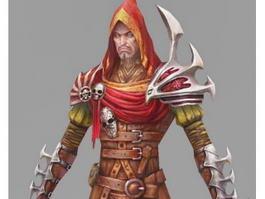 Hooded Rogue Shadow Assassin 3d model