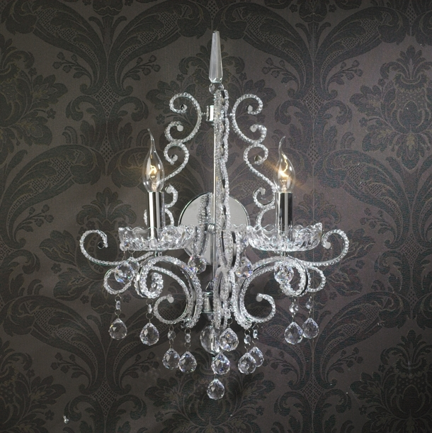 Crystal Candle Wall Sconces 3d model