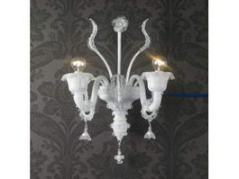 Art Deco Crystal Wall Sconces 3d model