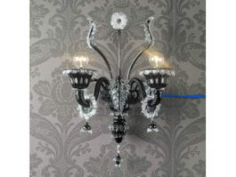Antique Crystal Black Wall Sconce 3d model