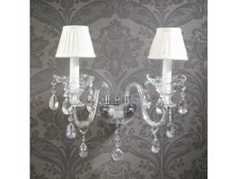Crystal Chandelier Wall Sconces 3d model