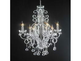 Electric Candle Crystal Chandelier 3d model