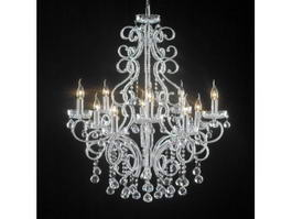 Antique Victorian Chandeliers 3d model