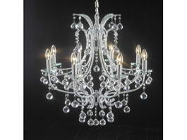 Antique Crystal Victorian Chandelier 3d model