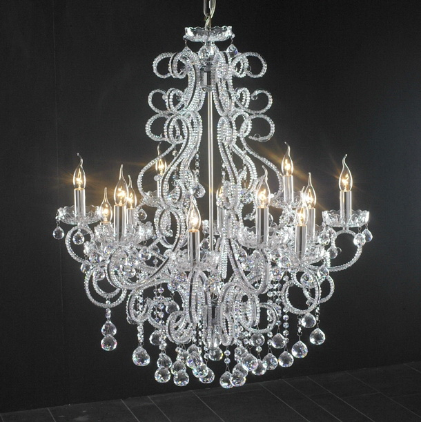 Antique White Crystal Chandelier 3d model