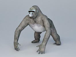 Black Gorilla 3d model