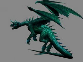 Dark Green Dragon 3d model