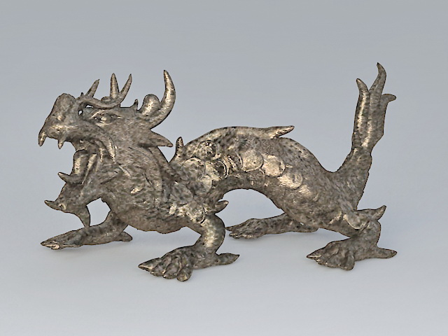 Bronze Chinese Dragon 3d model