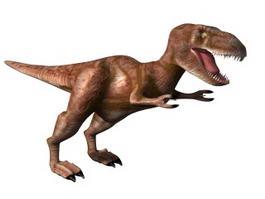 Red Tyrannosaurus Rex 3d model
