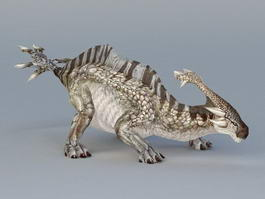Telmatosaurus Dinosaur 3d model