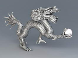 Chinese Dragon with Ball 3d model