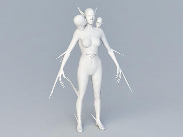 Female Humanoid Creature 3d model