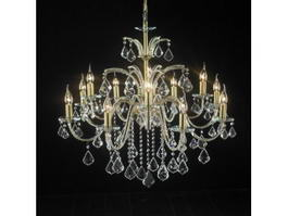 Vintage French Crystal Chandelier 3d model