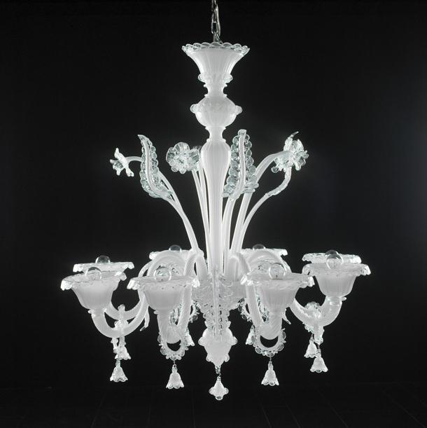 Crystal Light White Chandelier 3d model