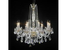 Crystal Candle Chandelier 3d model
