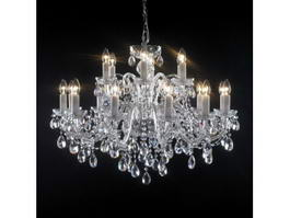 18 Light Crystal Candle Chandelier 3d model