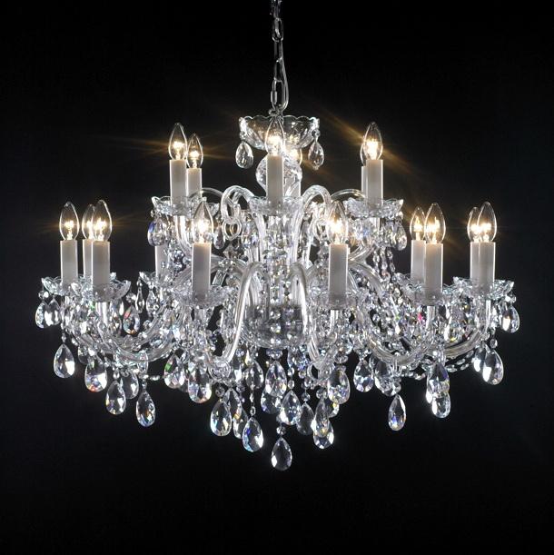 18 Light Crystal Candle Chandelier 3d model