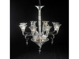 Contemporary Glass Chandelier 3d model