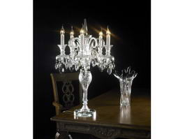 Crystal Candelabrum Table Lamp 3d model