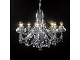 8 Crystal Chandelier Candles 3d model