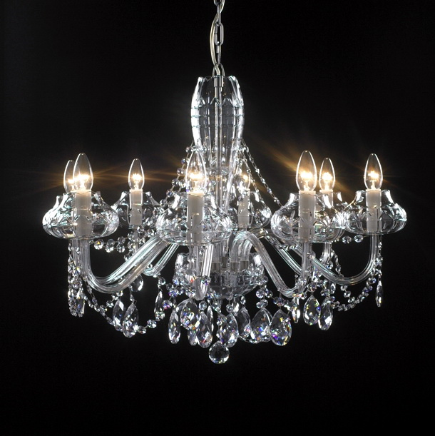 8 Crystal Chandelier Candles 3d model 3ds Max files free download ...