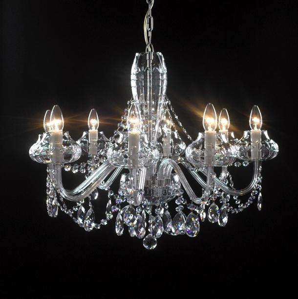 8 crystal chandelier candles 3d model