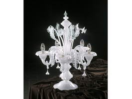 Antique Crystal Chandelier Table Lamp 3d model