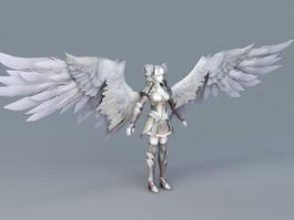 Warrior Angel Girl 3d model