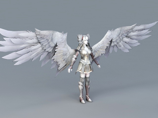 Warrior Angel Girl 3d model