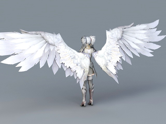 Warrior Angel Girl 3d Model 3ds Max Files Free Download