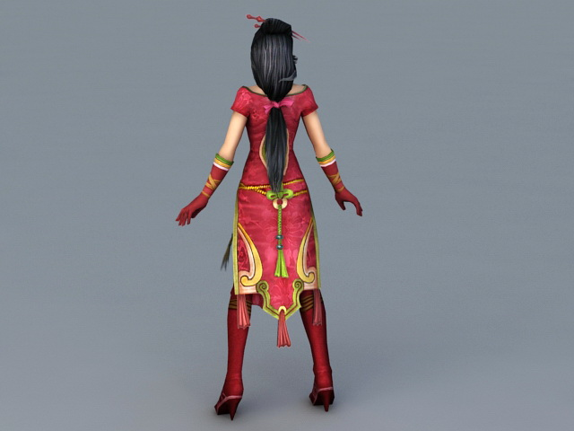 Chinese Anime Girl Character 3d Model 3ds Max Files Free Download Modeling 38976 On Cadnav
