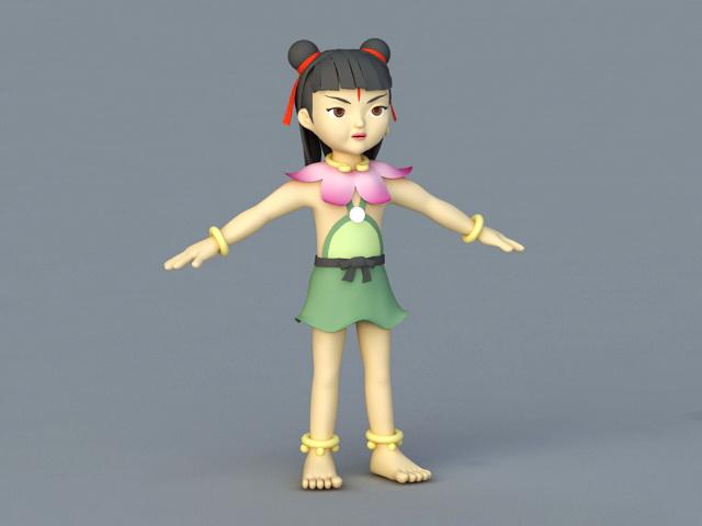 Chinese Nezha Mythology 3d model