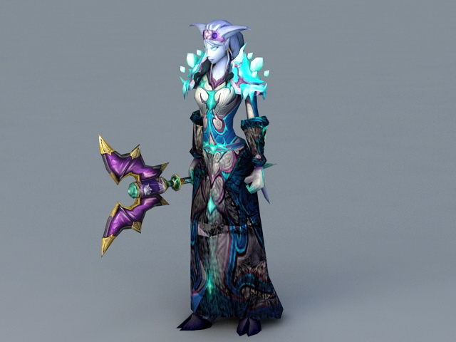 Female Draenei Mage 3d Model 3ds Max Files Free Download