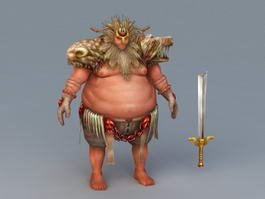Barbarian Warrior 3d model