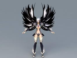 Dark Gothic Angel 3d model