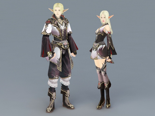 Elven Couples 3d model