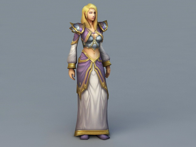 Warcraft Jaina Proudmoore 3d model