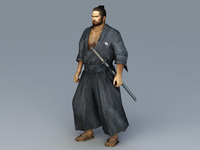 Japanese Ronin Warrior 3d model