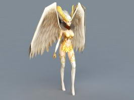 Female Angel Walking Rigged 3d model
