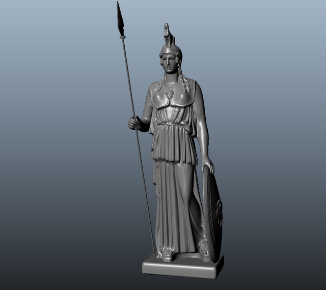 Athena Greek Goddess Statue 3d model