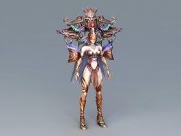 Chinese Mythology Goddess 3d model