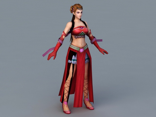 Ancient Chinese Dancer 3d model
