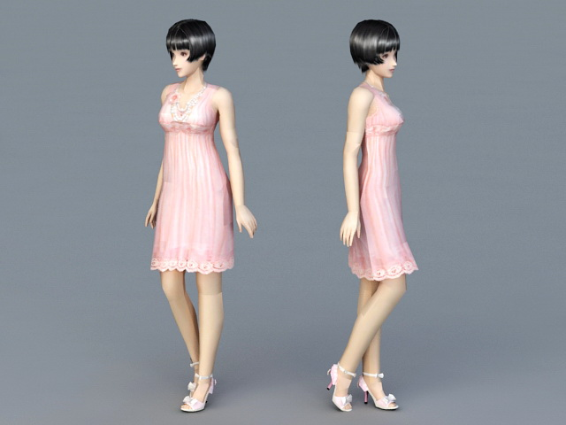 Beautiful Lady 3d model