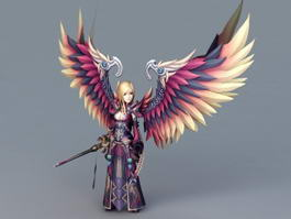 Female Warrior Guardian Angel 3d model